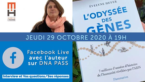 Entretien avec Evelyne Heyer le 29 octobre sur la page Facebook de DNA PASS